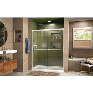 DreamLine Duet Glass Shower Door/Base - 36-in x 60-in - Nickel