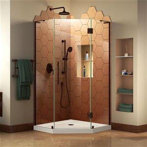 DreamLine Frameless Shower Enclosure Kit -  42-in - Bronze