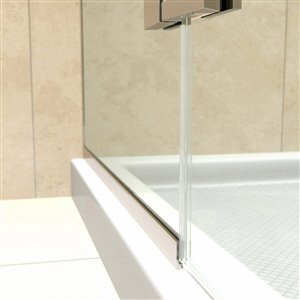 DreamLine Aqua Ultra Curved Shower Door/Base - 60-in - Chrome