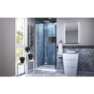DreamLine Aqua Fold Shower Door and Base - 36-in - Chrome