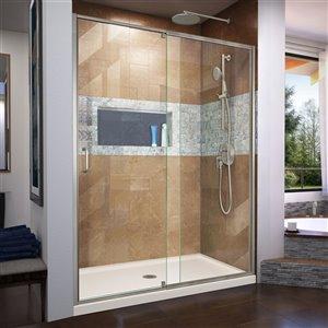 DreamLine Flex Framed Shower Door/Base - 36-in x 60-in - Nickel