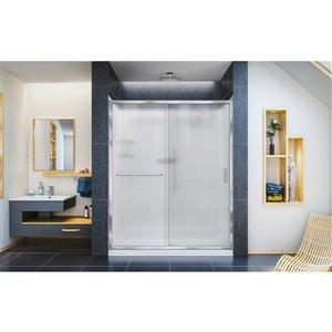 DreamLine Infinity-Z Shower Door and Base Kit - 60-in - Chrome