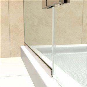 DreamLine Aqua Ultra Shower Door and Base - 48-in - Nickel