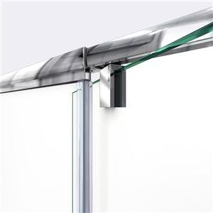 DreamLine Flex Shower Door and Base Kit - 36-in - Nickel
