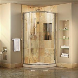 DreamLine Prime Shower Enclosure Kit - 38-in x 74.5-in - Chrome