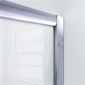 DreamLine Visions Glass Shower Door Kit - 60-in - Nickel