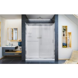 DreamLine Infinity-Z Shower Door/Arcylic Base - 60-in - Chrome