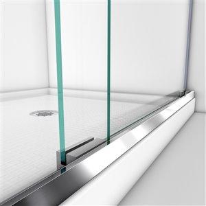 DreamLine Semi-Framed Shower/Base Kit - 60-in - Chrome