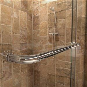 DreamLine Charisma Shower Door/Base Kit - 60-in- Chrome/Black