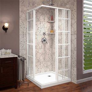 DreamLine French Corner Shower Enclosure Kit - 36-in - White