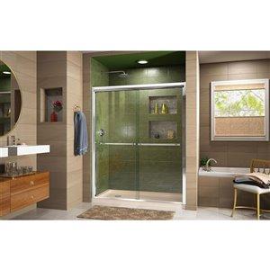 DreamLine Duet Bypass Shower Door/Base - 30-in x 60-in - Chrome