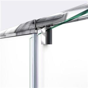 DreamLine Flex Shower Door/Base Kit  - 60-in x 76-in - Nickel