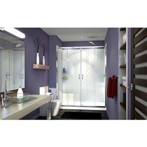DreamLine Visions Tub/Shower Door Kit - 60-in - Chrome
