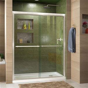 DreamLine Duet Bypass Shower Door/Base - 32-in x 60-in - Nickel