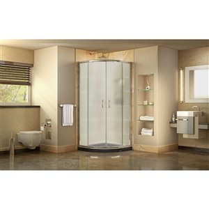 DreamLine Prime Shower Enclosure Kit - 38-in - Chrome