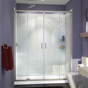 DreamLine Visions Modern Shower Door Kit - 60-in - Nickel
