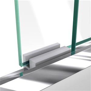 DreamLine Duet Glass Shower Door/Base - 32-in x 60-in - Chrome