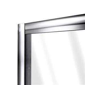 DreamLine Flex Pivot Shower Door and Base - 36-in x 36-in - Chrome