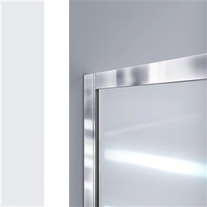 DreamLine Infinity-Z Shower Door/Arcylic Base - 60-in - Nickel
