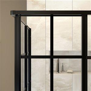 DreamLine French Corner Shower Enclosure Kit - 42-in - Black