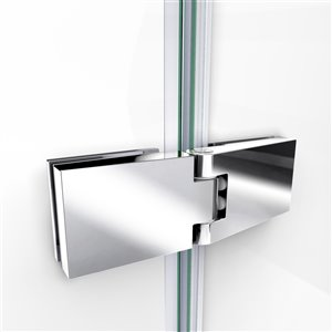 DreamLine Aqua Ultra Shower Door and Base - 60-in - Chrome
