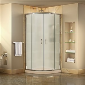DreamLine Prime Shower Enclosure Kit - 36-in - Chrome