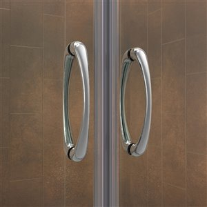 DreamLine Visions Dual Shower Door and Base - 60-in - Chrome