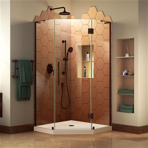 DreamLine Prism Plus Shower Enclosure Kit - 40-in - Bronze