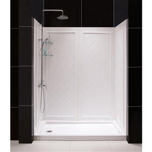 DreamLine QWALL-5 Framed Shower Base and Backwalls - 60-in