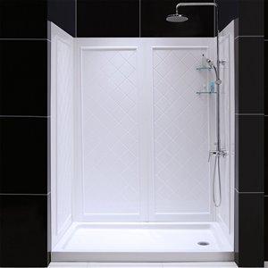 DreamLine QWALL-5 Tub/Shower Base and Backwalls Kit - 60-in