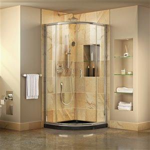 DreamLine Prime Shower Enclosure/Base Kit - 36-in - Chrome