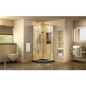 DreamLine Prime Shower Enclosure Kit - 33-in - Chrome