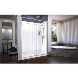 DreamLine Flex Shower Door/Q-Wall Backwall - 60-in - Nickel