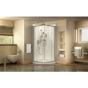 DreamLine Prime Pivot Shower Enclosure Kit - 33-in - Nickel
