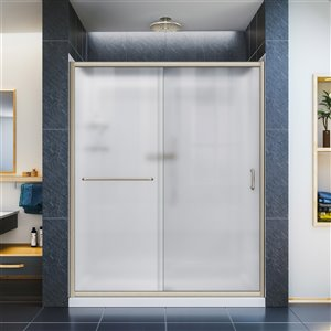 DreamLine Infinity-Z Glass Shower Door Kit - 60-in- Nickel