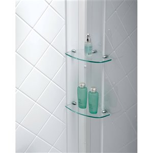 DreamLine QWALL-4 Shower Base and Backwalls - 32-in