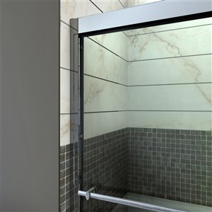 DreamLine Duet Sliding Shower Door/Base - 36-in x 60-in - Nickel