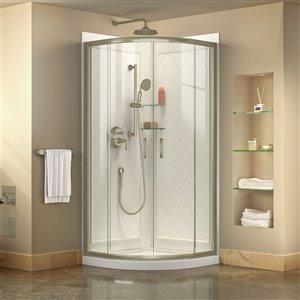DreamLine Prime Shower Enclosure Kit - 38-in - Nickel