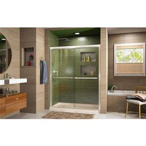 DreamLine Framed Shower Door/Base - 30-in x 60-in - Nickel