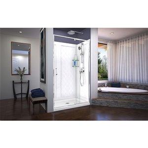 DreamLine Flex Shower Door Kit - 48-in - Chrome