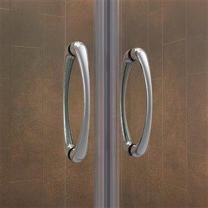 DreamLine Visions Tub/Shower Door and Base - 60-in - Nickel