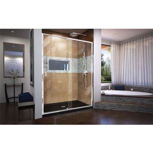 DreamLine Flex Framed Shower Door/Base - 36-in x 60-in - Chrome