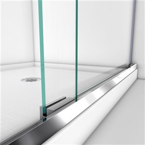 DreamLine Charisma Shower Door and Base Kit - 60-in - Chrome