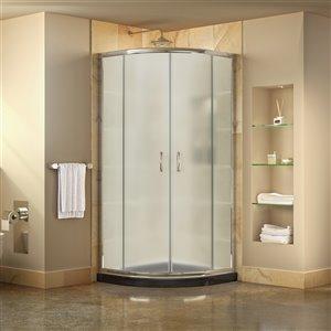 DreamLine Prime Shower Enclosure/Base Kit - 33-in - Chrome