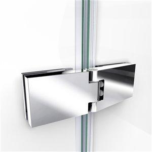 DreamLine Aqua Ultra Shower Door and Base Kit - 60-in - Nickel
