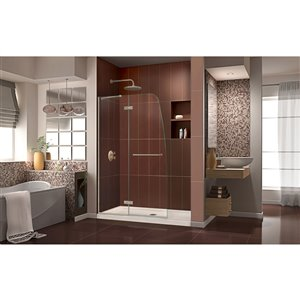 DreamLine Aqua Ultra Frameless Shower Door - 60-in - Nickel