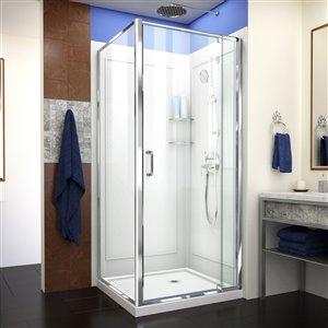 DreamLine Flex Shower Enclosure Kit - 36-in - Chrome