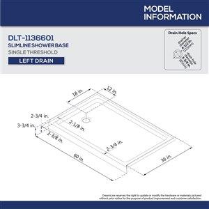 DreamLine Aqua Ultra Shower Door/Base - 60-in x 74-in - Nickel