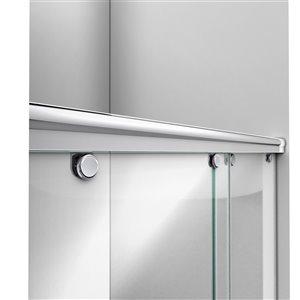 DreamLine Charisma Shower Door/Acrylic Base - 60-in - Chrome