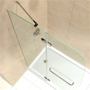 DreamLine Aqua Ultra Shower Door and Base - 60-in - Nickel